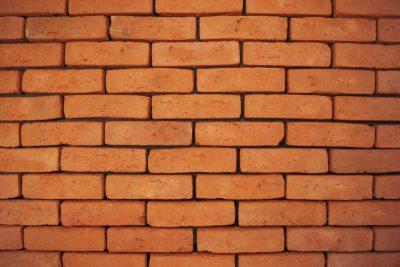 flach alt mit Ziegelstein Fassade Orange
