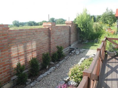 fence with brick hand made