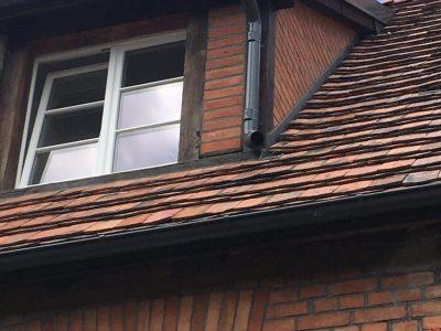red brick wall repair