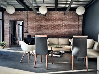retro brick loft eclectic handmade production