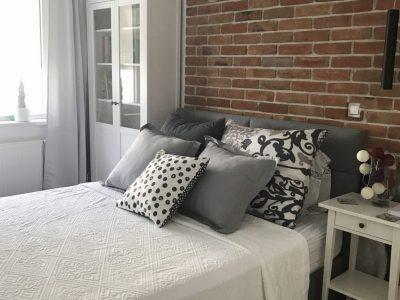 decorative brick in the bedroom hand produced retro manufacture Trojanowscy