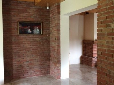 decorative wall with brick hand molded retro