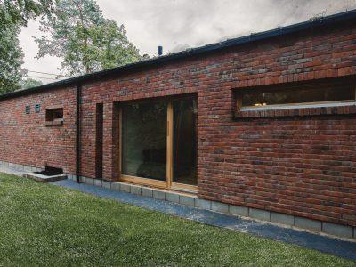 decorative brick old house on distributor