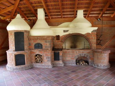 fireplace hearth brick hand molded