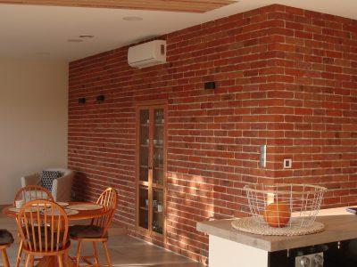 ścianka dekoracyjna cegła ręcznie formowana