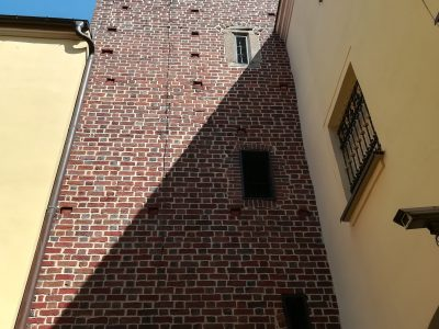 brick gothic town hall brick wall