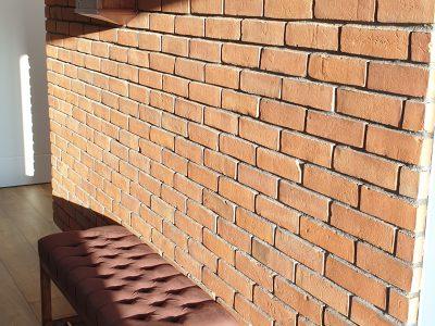 ceglana ściana czerwona ręcznie produkowana