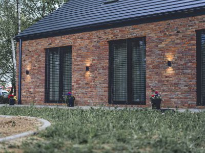 Brick retro modern barn brickyard