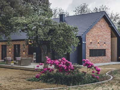 brick decorative modern barn
