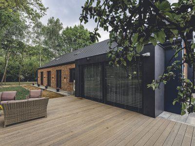 brick hand formed modern barn