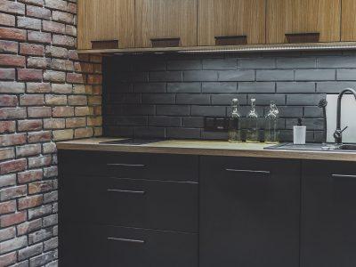brick in the kitchen brick tile