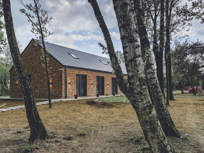 brick on facades modern barn