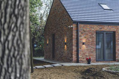 brick on wall modern barn design