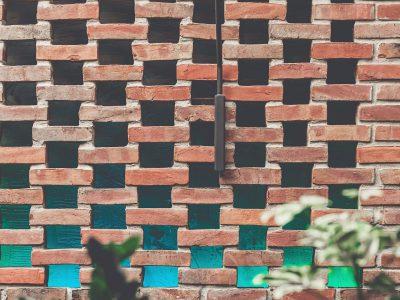 hand formed brick wall