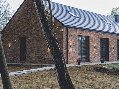 old brick modern barn